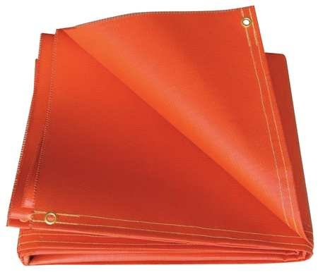 Image of Ergonomic Supports Hi Temp, O51-10X12-20-B, Welding Curtain, 10 ft. W, 12 ft, Orange