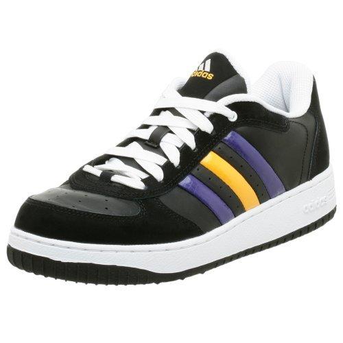 adidas Men's BTB Low NBA Lakers Basketball Shoe,Black/Regal Purple,10.5 M