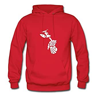 X-large Women Water_me Lightweight Customizable Red Cotton Sweatshirts