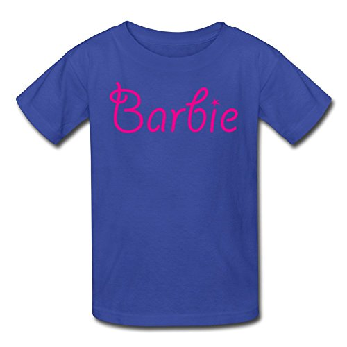 Barbie Text Youth's Tee RoyalBlue -