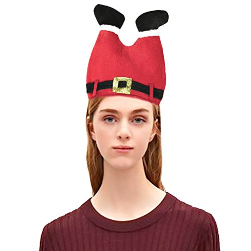 Funny Holiday Hat, Christmas Hat Hilarious Hat Novelty Red Pants Cap Party Accessory Costume Plush Hat Perfect for Holiday Event Celebration Kids Children by DomeXmas