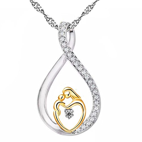 Sunward Fashion Mother's Day New Gifts Cute Necklace Mom and Baby Necklaces Baby Necklace ()