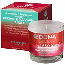 Dona Kissable Massage Candle Strawberry Souffle, 4.75 Ounce by Dona