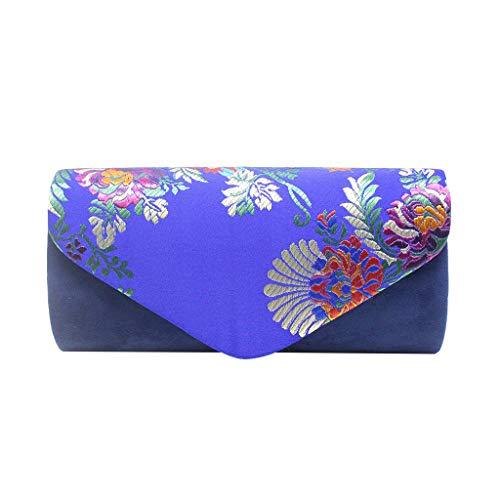 DDKK bags Fashion Women Flower Clutches Evening Bags Handbags Wedding Clutch Purse-Embroidery Cocktail Party Bag