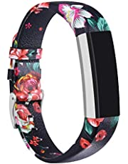 For Fitbit Alta HR and Alta Bands Leather, Vancle Leather Band for Fitbit Alta HR and Fitbit Alta Strap (silver-leather)
