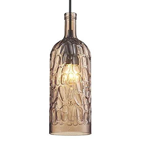 WYMBS Creative Furniture Decoration Pendant Light Stained Glass Wine Impressive Stained Glass Wine Bottle Decorations