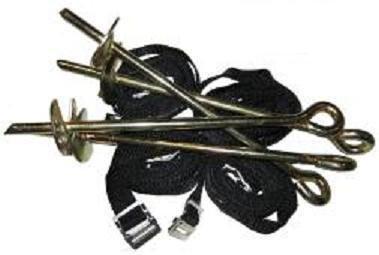 Heavy Duty Galvanized Trampoline Anchor Kit Trampoline Tie Down Kit for Jumpking Trampoline, Supertramp Trampoline Ketler Trampoline Suitable for all Trampolines