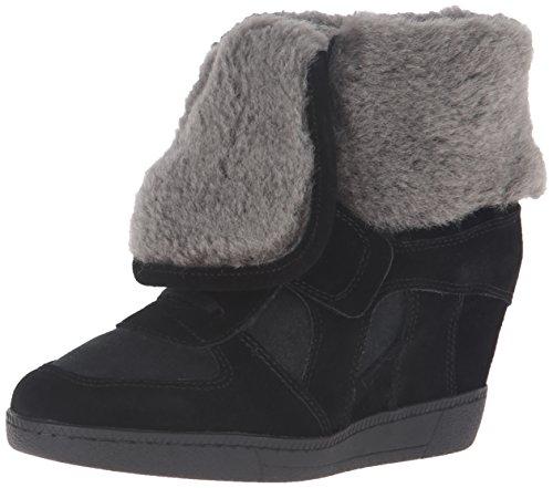 Ash Women's Brendy Fur Fashion Sneaker, Black/Black, 36 EU/6 M US