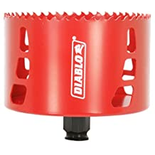 Freud DHS4125 Diablo High Performance Hole Saw Ideal for Drilling Wood, Plastic, Aluminum, Metal and Stainless Steel, 4-1/8-Inch X 2-3/8-Inch
