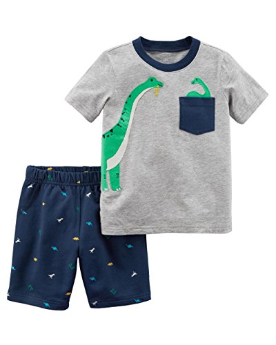 Carter's Baby Boys' 2 Piece Dino Tee and Woven Shorts Set 3 Months Baby Boys Bermuda Shorts