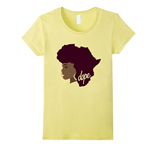 Women's Afrocentric Africa Afro Hair T Shirt for Women La...