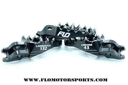 Flo Motorsports Black Kawasaki Kx65/80/85/100 Foot Pegs Fpeg-797blk by Flo Motorsports (Image #6)'