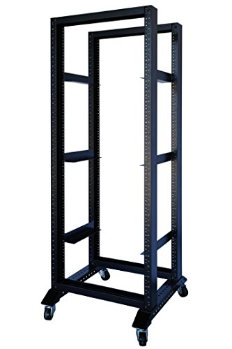 Rising 20U 4 Post Open Frame 19'' Data Network It Server/Audio Rack (20U 24