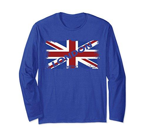London UK Long Sleeve T Shirt Vintage Flag British TheTeeWiz