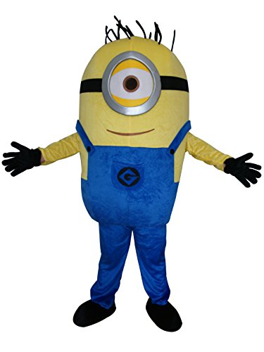Happy Shop1 Minions Minion Halloween Adult Mascot Costume Fancy Dress Cosplay Outfit (style2) for $<!--$145.00-->