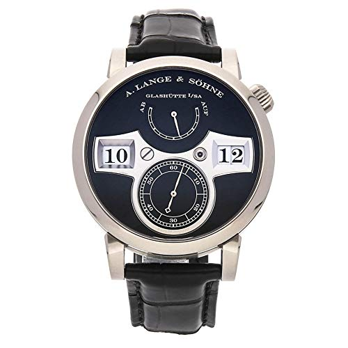 A. Lange & Sohne Zeitwerk Mechanical (Hand-Winding) Black Dial Mens Watch 140.029 (Certified Pre-Owned)