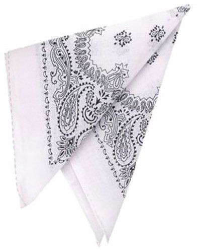 New White Country Western Costume Bandana Head Scarf (Country And Western Costumes)