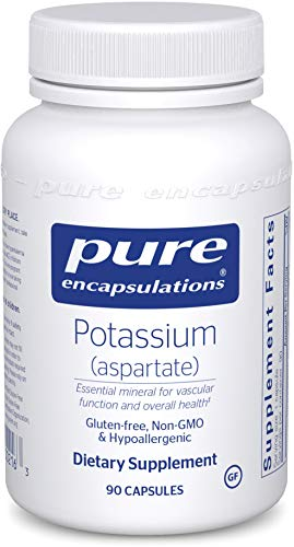 Pure Encapsulations Potassium - Pure Encapsulations - Potassium (Aspartate) - Hypoallergenic Supplement to Support Nerves, Muscles, Blood Flow, and Cardiovascular Health* - 90 Capsules