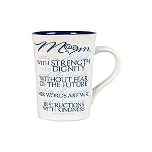 Lighthouse Christian Products It is Written Mom Ceramic Mug, 14 oz