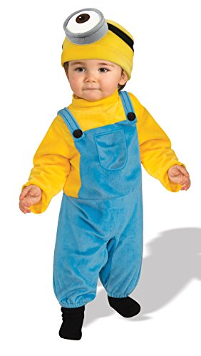 Rubie's Baby Boys' Minion Stewart Romper Costume, Yellow, Toddler (Minion Halloween Costume Baby)