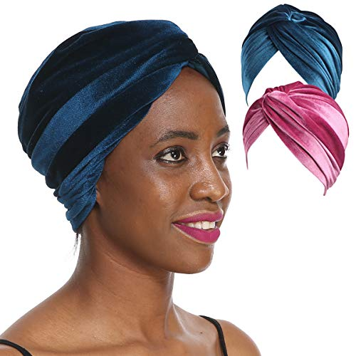 1 Or 2 Packs Velvet Turban Hat - Reach USA Proposition 65 Standard 30-DAY MONEY REFUND GUARANTEED