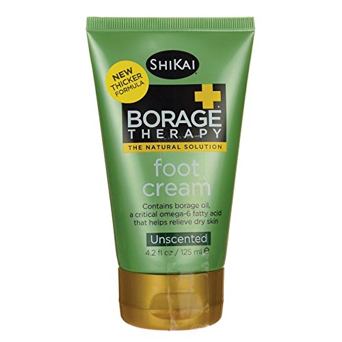Shikai BorageTherapy Foot Cream Unscented -- 4.2 fl oz (Foot Borage Cream)