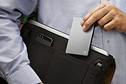 Seagate Backup Plus Slim 2TB Portable External Hard Drive USB 3.0, Silver (STDR2000101)