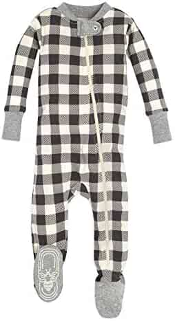 Burt's Bees Baby - Unisex Baby Sleeper Pajamas, Zip Front Non-Slip Footed Sleeper PJs, 100% Organic Cotton