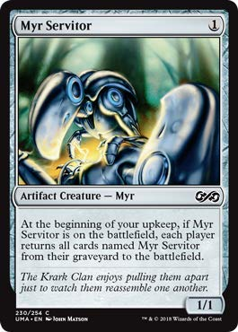 (Magic: The Gathering - Myr Servitor - Foil - Ultimate Masters -)