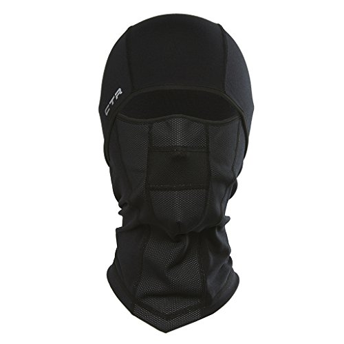Chaos CTR Adrenaline Dri Release Multi Tasker Pro Balaclava with Windproof Face Insert and Hinged Construction (Black, Large/X-Large) 2010 Snowboard Jacket