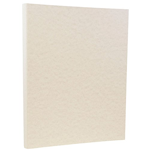 JAM PAPER Parchment 24lb Paper - 8.5 x 11 - Pewter Gray Recycled - 100 Sheets/Pack