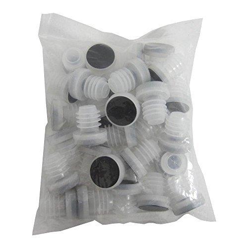 Stoppers Plastic (Chicago Brew Werks All-Plastic Reusable Tasting Corks, White (Pack of 25))