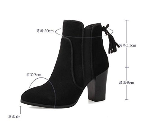 nine KHSKX Heeled Suede Heels Winter Crude Match New Thirty Fashion Shoes Warm All With High Korean Velvet Boots SFqwRxTc1S
