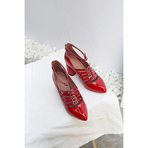 Malla Mujer Elastic WSXY Tacones Entrenadores KJJDE Red Jane Mary Caminar Para Ligero A2904 Hq0wH8x