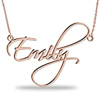 Custom Name Necklace 18K Rose Gold Plated Sterling Silver-Choose Your Favorite Font - personalized Necklace with Any Name