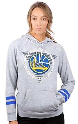 NBA Golden State Warriors Women's Fleece Hoodie Pullover Sweatshirt Varsity Stripe, X-Large, ()