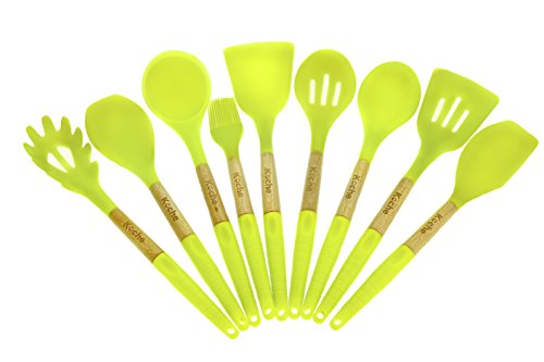 Cooking Utensils - Kitchen Utensil Set Of 9 Pieces Made Of Silicone (9 Piece Utensil)