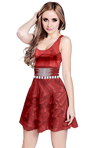 Cosplay Jewery Sleeveless Womens National Diamond CowCow XS 5XL Day Dress Cosplay Party Red Pearl Flag Costume American 8SqaF