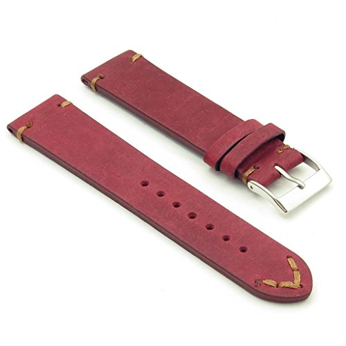 a Long Vintage Italian Leather Watch Strap ()