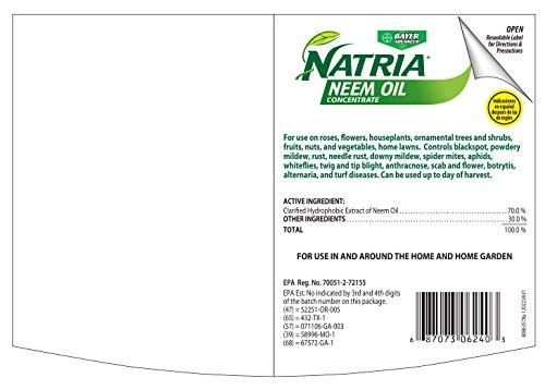 Bayer Advanced tria 706240A Concentrate Neem Oil, 24 Oz, Blue Bottle
