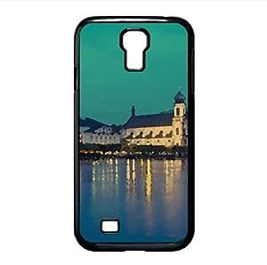 Chapel Bridge, Lucerne, Switzerland Watercolor style Cover Samsung Galaxy S4 I9500 Case (Switzerland Watercolor style Cover Samsung Galaxy S4 I9500 Case)