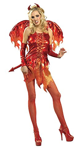 Devil On Fire Womens Halloween Costume Secret Wishes Sexy Cute Hot Devil -