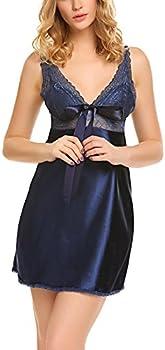 Beausom Lace Babydoll Chemise Lingerie Sexy Sleepwear Women's Nighties
