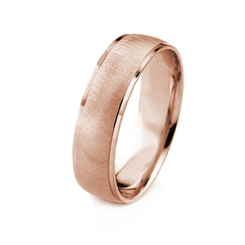14k Gold Men's Wedding Band with Cross Satin Finish and Cut Polished Edges - Gold Cross Satin