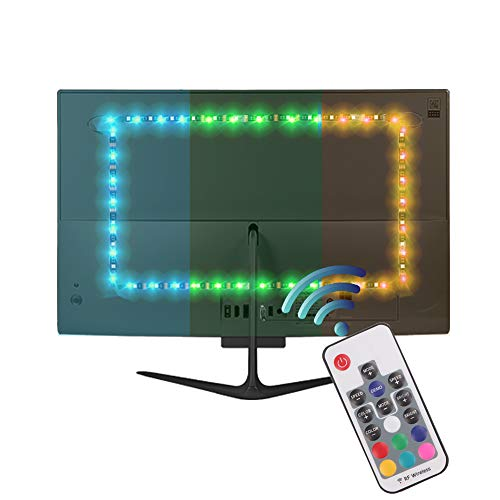 Bias Lighting Multi-colour Remote Control - LED Strip Light 6.56ft/2M TV Backlight Background Flexible With USB Cable 60LED 5050 for Protect Eyes Screen Mainframe Computer Table LCD Desktop PC Monitor - Contemporary Table Via