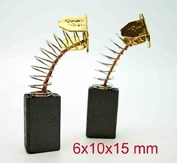 8 Pcs 6mm x 10mm x 16mm Carbon Brush Replacement for Makita CB-103 TS