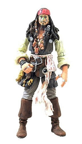 Disney Pirates Of The Caribbeans Dead Mans Chest: Cannibal King Jack Sparrow with Head Hunter Crown & Pistol (Jack Caribbean Cannibal)