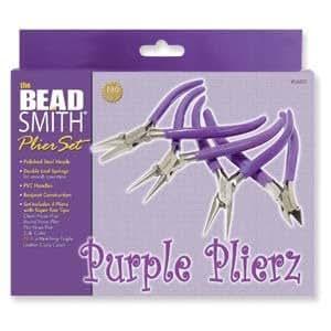 Purple Plier Set: Round, Chain, Flat, Sidecutter