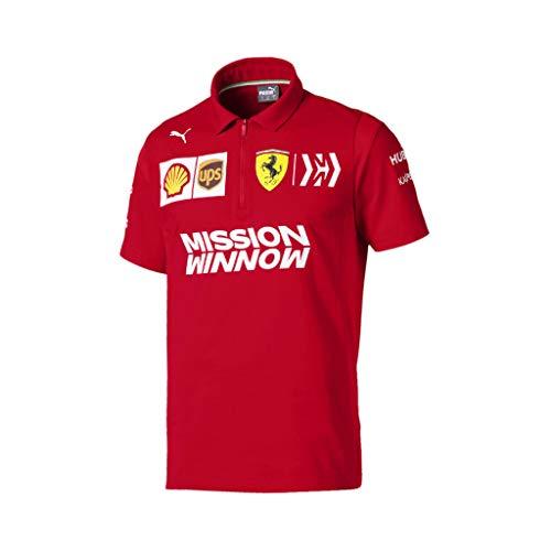 (PUMA Men's Scuderia Ferrari Team Polo Rosso Corsa L)