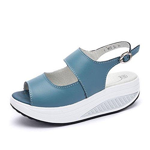 grueso inferior zapatos one femenino de de Donyyyy casual Forty inferior grueso pescado Balanceo playa boca calzado 5twSxZ8q